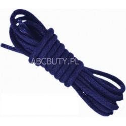 GRANATOWE Cienkie okrągłe sznurowadła 2,5 mm