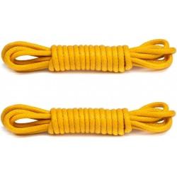 ŻÓŁTE  Woskowane sznurowadła FI 2 mm