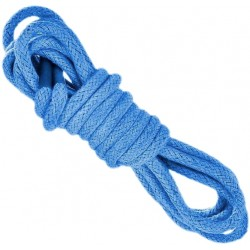 BŁĘKITNE Grube okrągłe sznurowadła 5 mm