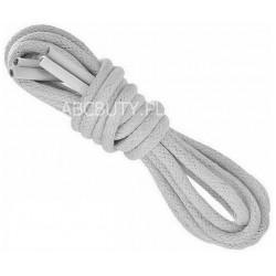 SZARE Cienkie okrągłe sznurowadła 2,5 mm