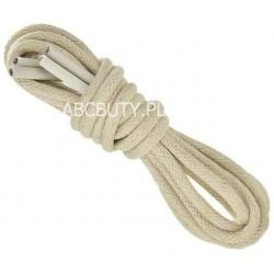 BEŻOWE Cienkie okrągłe sznurowadła 2,5 mm