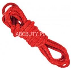 CZERWONE Średnie okrągłe sznurowadła 3,5 mm