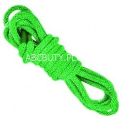 ZIELONE Średnie okrągłe sznurowadła 3,5 mm