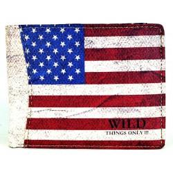 MĘSKI PORTFEL FLAGA AMERYKI