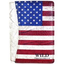 G3-04 MĘSKI PORTFEL MOTYW Z FLAGĄ AMERYKI