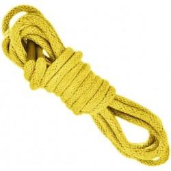 ŻÓŁTE Grube okrągłe sznurowadła 5 mm