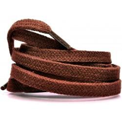 BRĄZOWE Grube płaskie sznurowadła 8 mm