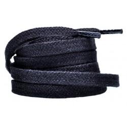CZARNE Grube płaskie sznurowadła 8 mm