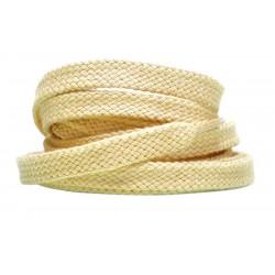 NATURALNE Grube płaskie sznurowadła 8 mm