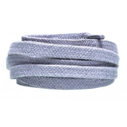 SZARE Grube płaskie sznurowadła 8 mm