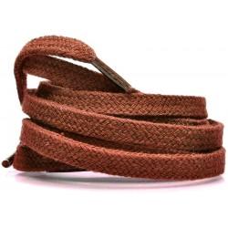 BRĄZOWY JASNY Grube płaskie sznurowadła 8 mm