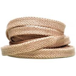 BEŻOWE Grube płaskie sznurowadła 8 mm
