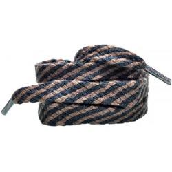 BRĄZOWO - CZARNE Grube płaskie sznurowadła 8 mm