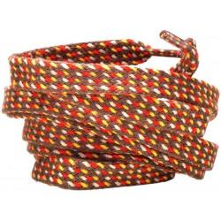 BRĄZOWO - ŻÓŁTE  Grube płaskie sznurowadła