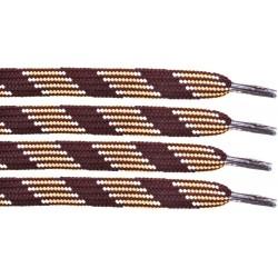 BRĄZOWO-BEŻOWE Trekkingowe sznurowadła 9 mm
