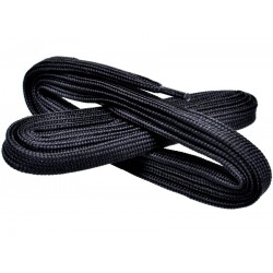 CZARNE Szerokie sznurowadła 7 mm
