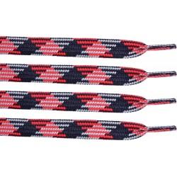CZARNO-CZERWONE Trekkingowe sznurowadła 9 mm