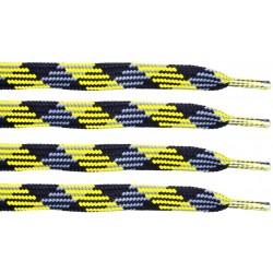 CZARNO-ŻÓŁTE Trekkingowe sznurowadła 9 mm