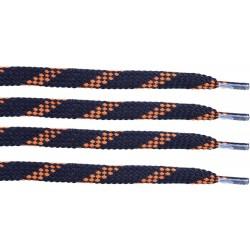 GRANATOWO-BRĄZOWE Trekkingowe sznurowadła 9 mm