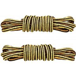 ŻÓŁTO-CZARNE Trekkingowe sznurowadła 5 mm