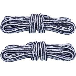 SZARO-CZARNE Trekkingowe sznurowadła 5 mm