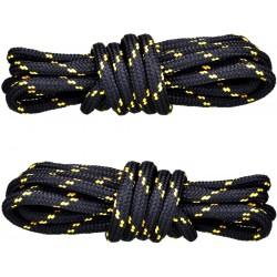 CZARNO-ŻÓŁTE Trekkingowe sznurowadła 5 mm