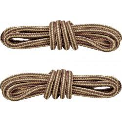 BRĄZOWO-BEŻOWE Trekkingowe sznurowadła 5 mm