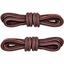 BRĄZOWO-ŻÓŁTE Trekkingowe sznurowadła 5 mm