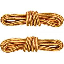 ŻÓŁTO-BRĄZOWE Trekkingowe sznurowadła 5 mm